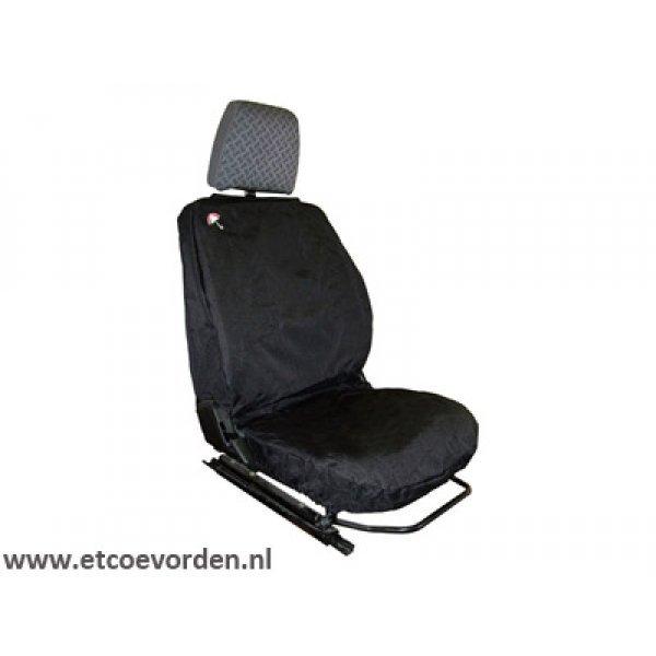 Waterbestendige stoelhoes Voorkant Zwart 3 stoelen