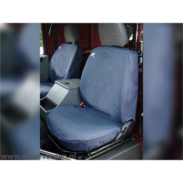 Waterbestendige stoelhoezen Voorkant Zwart 3 stoelen Def tot 2007