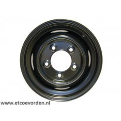 5.5x16 Standard Welded Tubeless Primed Zwart