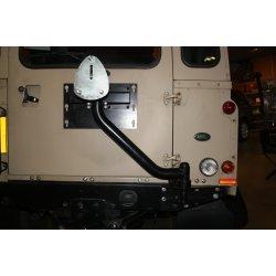 Reservewieldrager op chassis Defender