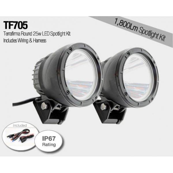 Ronde 25w LED Spotlight Set