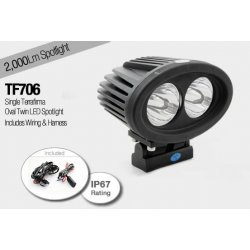 Oval Twin LED Spotlight