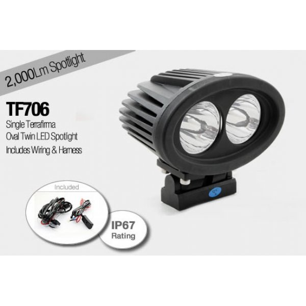Oval Twin LED Spotlight