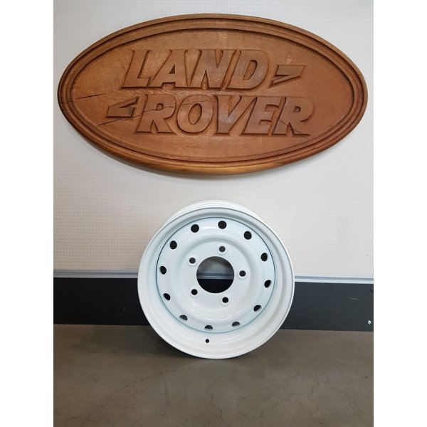 "Heavy Duty stalen velg type Wolf  6.5x16""  Gloss White"