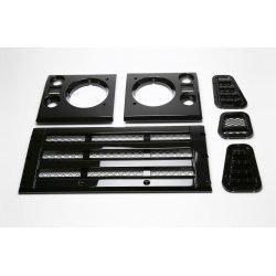 Defender Facelift Grille Kit - Gloss black